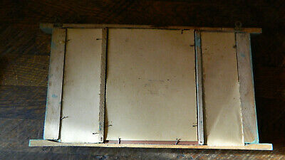 Antique Primitive Old Hand Painted Wooden Wall Hanging Mirror Rustic Style 7