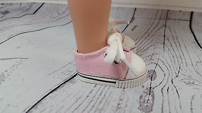 Pink Ballet Style Shoes Fit American Girl Wellie Wisher Dolls Size 54mm Shoes