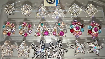 Joblot of 18Pairs Mixed Design Sparkly Diamante stud Earrings-NEW Wholesale lot3 2