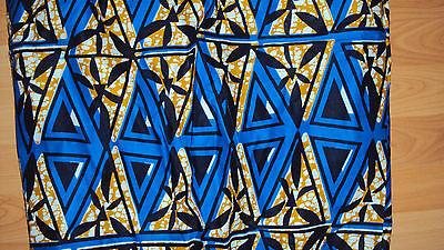 Ankara African Print Blue, Black & Beige Multi Skirt & Jacket Top UK 12-14 / M 8