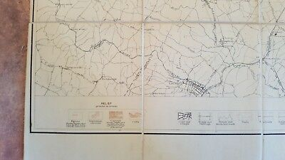 LARGE MARYLAND MAP - BALTIMORE COUNTY Topography & Election Districts - 1925 6