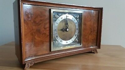 "QUALITY ELLIOTT OF LONDON ART DECO CLOCK MANTLE . RETAILED BY ""ROWELL"" Oxford"""
