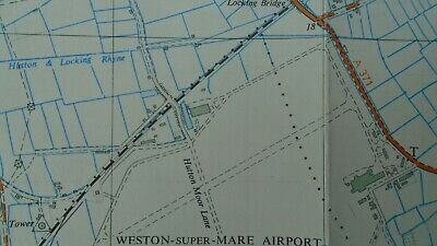 "Rare Ordnance Survey 2.5"" Map ST36 Weston Super Mare 1975 Wick St Lawrence WC&PL 6"