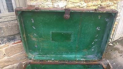 Antique Military Trunk Box Chest Army Military,Table-Theme Pub-Stage Prop 9