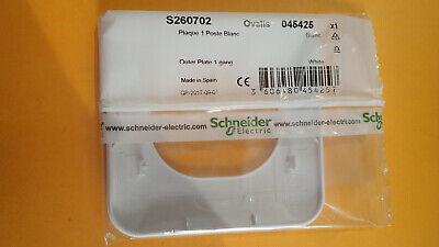 Lot de 25 Plaques simple Schneider Ovalis blanc S260702