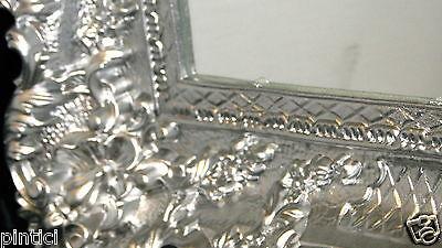 wandspiegel spiegel barock gro er silber hochglanz 97x57 antik bilderrahmen eur 84 90. Black Bedroom Furniture Sets. Home Design Ideas
