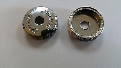 2 Specialized crankset dust caps steel chrome cover vintage NOS crank shimano