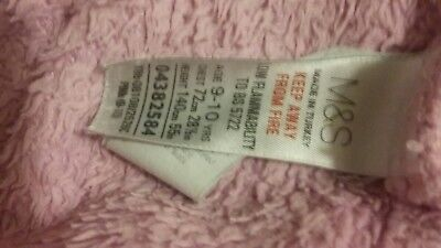 Girls Tatty Teddy Dressing Gown M&S Age 9-10 5