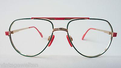 Benetton Markengestell Kinderbrille XXL Pilotenform Metallfassung frame GR:L 2