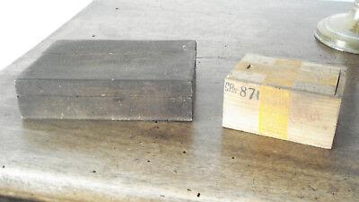 3 boites anciennes bois Le Galvanic Solere + encrier fonte+ pots loft usine déco 7