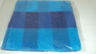 Nigerian Aso Oke Gele (Headtie)- Royal & Turquoise Blue Cubed Pattern 1 Piece 4