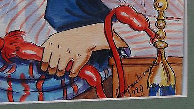 "Rare1920 Constantinople Street Scene""yok! Oxl!"" Original Watercolor Painting 6"