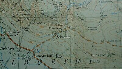 "Rare Ordnance Survey 2.5"" Map SS94 Minehead 1963 Dunster Selworthy Timberscombe 4"