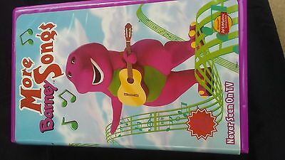 VINTAGE MORE BARNEY Songs VHS Clam Shell Case Singing Dancing Dinosaur 1999  Show