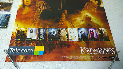 LOTR Lord of the Rings Phonecard Lot of 4 New Zealand Foreign + Store Poster 3