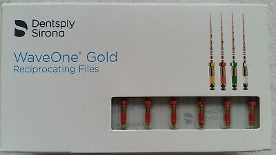 Waveone Gold Wave One Gold Primary 25mm Endodontic File Root Canal Dentsply 6pcs 2