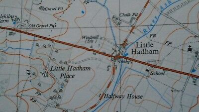 "RARE PRISTINE Ordnance Survey 2.5"" Map TL42 Bishops Stortford 1961 Little Hadham 3"