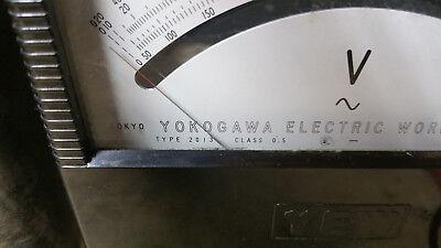 VINTAGE YEW YOKOGAWA PORTABLE AC VOLTMETER TYPE 2013 w/Leads & Case 3