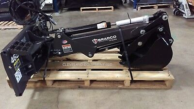NEW BRADCO SWING HOE BACKHOE ATTACHMENT Bobcat Skid Steer Loader Excavator  Arm
