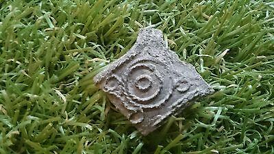 Beautiful intricate Roman Bronze/silverered philagree rope effect pendant part 2