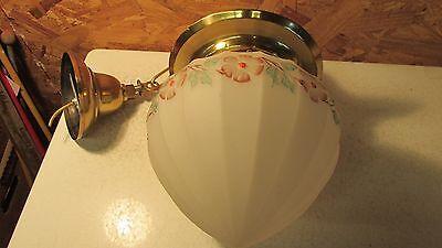Antique Brass Pendant Light Fixture & Fancy Globe