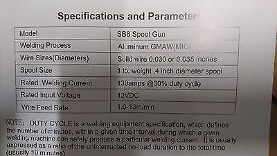 Mig Welding Spool Gun Sherman M-15 SB-8 Euro connector 3m long cable! FreeUKDel! 4