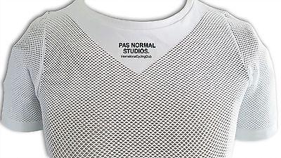 ... PAS NORMAL STUDIOS Cycling Base layer White Half Sleeve 100% Mesh  Fabric 2 4660caba0