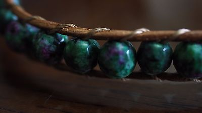 Ruby Zoisite Natural Crystal Beaded Bracelet Medley Positive Healing Ideal Gift 2