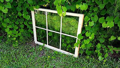 VINTAGE SASH ANTIQUE WOOD WINDOW UNIQUE FRAME PINTEREST WEDDING 36x27 6 PANE 2