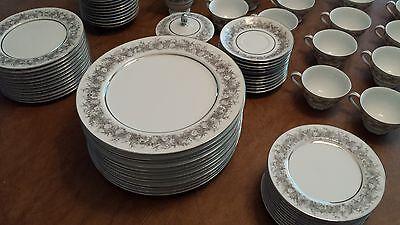 8 of 12 Vtg 93 Piece Florentine Fine China Dinnerware Set By Sango Japan Serving For 12 & VTG 93 PIECE Florentine Fine China Dinnerware Set By Sango Japan ...