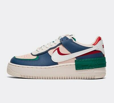 AUTHENTIC NIKE AIR Force 1 Shadow Mystic Navy White Pink UK