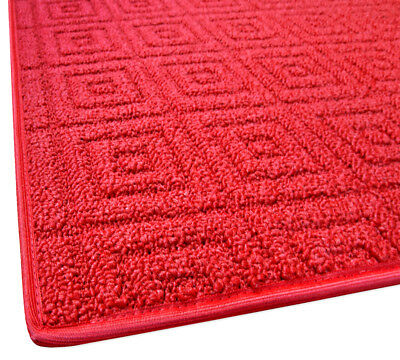 Tappeto cucina bagno rosso passatoia tessitura 3D antiscivolo natale mod.EVITA