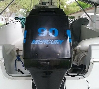 90 Hp Mercury Outboard >> Mercury Outboard Motor Blue 90 Hp 275 Hp Optimax Or Efi Saltwater