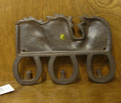 METAL HOOK #FW1140 THREE HORSE, THREE HOOKS, New From Retail Store 2