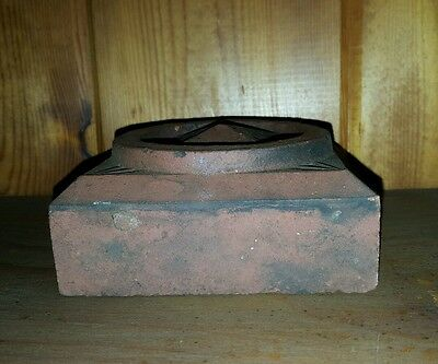 Antique Arts & Crafts Architectural Artifact Red New England Ma Origin Decorate 5