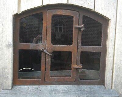 """Stallfenster , Fenster , Eisenfenster,Gussfenster mit Tür  ! Remise """"Theo"""" 4"""