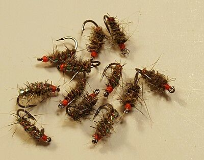 Beaded Hot Spot size 20 Fly Fishing Flies 12 Provo River Sow Bugs Nymph