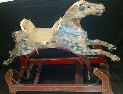 Rare Antique 1800's P.J. Marqua & Co. Original Wooden Toy Hobby Horse 2
