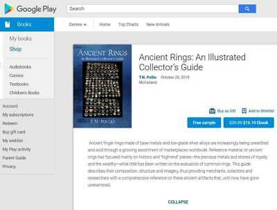 Illustrated Guide to Ancient, Roman, Byzantine & Medieval Rings 2