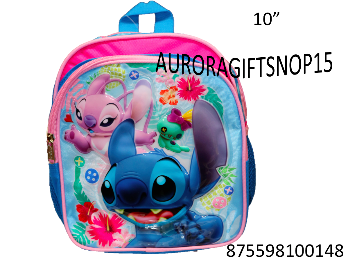"""2017 Licensed New Disney Lilo and Stitch 12/"""" Girls//Boys Large School Backpack"""