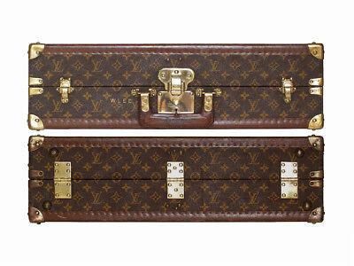Louis Vuitton monogram suitcase trunk open by center, square handle. 25% off !