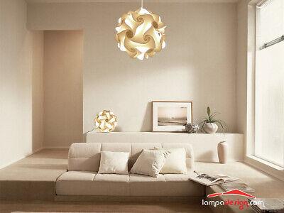 SET LUCI CAMERA da letto Lampadario Design vintage 35 cm e 2 abat jour como  led