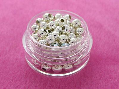 2.5mm 3mm 4mm 6mm 8mm Metal Round Ball Spacer Beads Gold Silver Plated 6