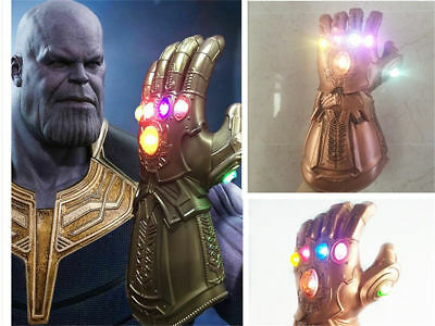Avenge 3 Infinity War Infinity Gauntlet LED Cosplay Thanos Gloves With LED ON 2