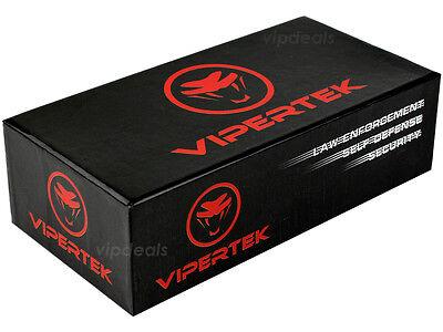 VIPERTEK VTS-T03 Metal Police 53 BV Stun Gun Rechargeable LED Flashlight Green
