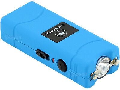 VIPERTEK BLUE VTS-881 35 BV Micro Rechargeable LED Police Stun Gun Taser Case