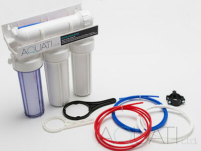 4 Stage Reverse Osmosis Water Filter 50/75/100/150GPD Aquarium Tropical Marine 2