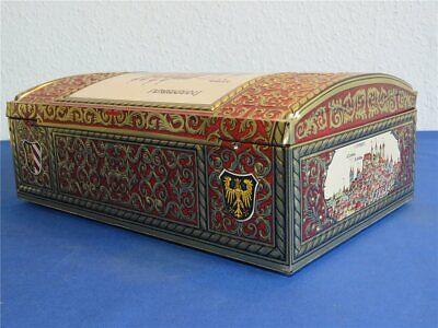 Alte weiss Silbertruhe Lebkuchen Blechdose - LEER - 270 x 170 x 100 Lebkuchendos 3