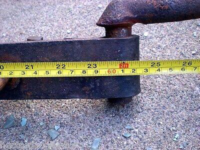 "SALE Set of 2 Heavy 23.5"" Antique Cast Iron Barn Door Hinges Shabby Chic 5"