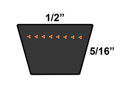 D/&D PowerDrive A178 V Belt  1//2 x 180in  Vbelt